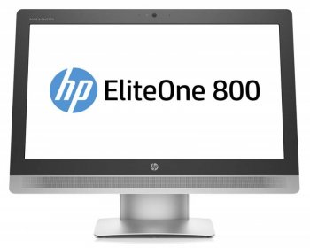 "Моноблок HP EliteOne 800 G2 23"" Full HD i5 6500 (2.9)/4Gb/500Gb 7.2k/HDG4600/DVDRW/Windows 10 64 +W7Pro/GbitEth/WiFi/клавиатура/мышь/Cam/черный 1920x1"