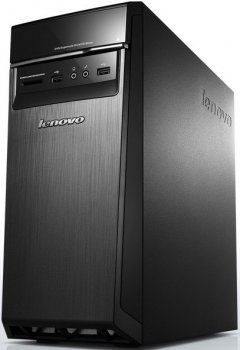 Системный блок Lenovo H50-05 MT A8 7410/6Gb/1Tb/DVDRW/CR/Windows 10 Home 64/черный/серебристый