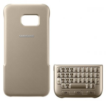 Чехол-клавиатура Samsung для Samsung Galaxy S7 Keyboard Cover золотистый (EJ-CG930UFEGRU)