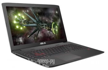 Ноутбук Asus ROG GL752VW-T4234T 90NB0A42-M03070 (Intel Core i7-6700HQ 2.6 GHz/12288Mb/2000Gb + 128Gb SSD/DVD-RW/nVidia GeForce GTX 960M 2048Mb/Wi-Fi/C