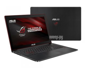 Ноутбук Asus ROG G501VW-FI074T 90NB0AU3-M02120 (Intel Core i7-6700HQ 2.6 GHz/16384Mb/512Gb SSD/No ODD/nVidia GeForce GTX 960M 4096Mb/Wi-Fi/Cam/15.6/19