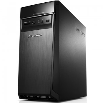 Системный блок Lenovo 300-20IBR MT Cel N3050/2Gb/500Gb/DVDRW/CR/Windows 10 Entry Level Desktop/черный/серебристый