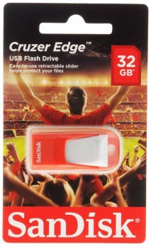 Накопитель USB Sandisk 32Gb Cruzer Edge EURO 2016 Football SDCZ51-032G-E35RG USB2.0 красный