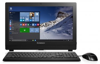 "Моноблок Lenovo S200z 19.5"" HD+ P N3700/2Gb/500Gb/HDG/DVDRW/Windows 10 Home Single Language 64/Cam/черный 1600x900"