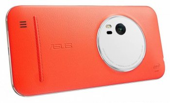 Чехол (флип-кейс) Asus для Asus ZenFone ZX551ML Leather Case оранжевый (90AC0100-BBC005)
