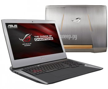 Ноутбук Asus ROG G752VY-GC122T 90NB09V1-M01370 (Intel Core i7-6700HQ 2.6 GHz/16384Mb/1000Gb + 128Gb SSD/DVD-RW/nVidia GeForce GTX 980M 4096Mb/Wi-Fi/Ca