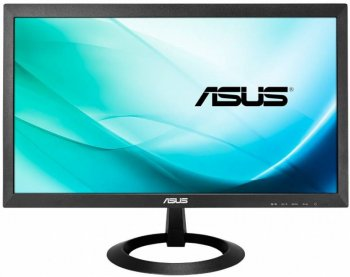 "Монитор Asus 19.5"" VX207TE черный TN+film LED 5ms 16:9 DVI M/M матовая 600:1 200cd 1366x768 D-Sub HD READY 2.3кг"
