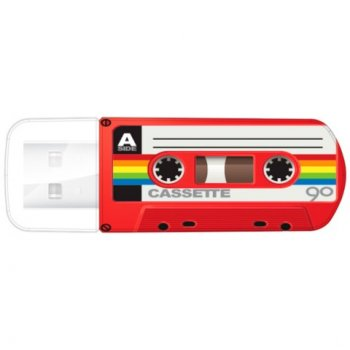 Накопитель USB Verbatim 16Gb Mini Cassette Edition 49398 USB красный