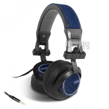 Наушники с микрофоном Canyon Jeans Headphones Black-Blue Jeans CNS-HHP1
