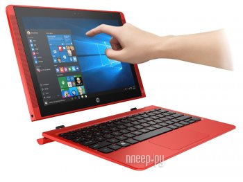Планшетный компьютер HP Pavilion x2 10-n202ur P3Z17EA Red (Intel Atom Z3736F 1.33 GHz/2048Mb/32Gb/Wi-Fi/Bluetooth/Cam/10.1/1280x800/Windows 10)