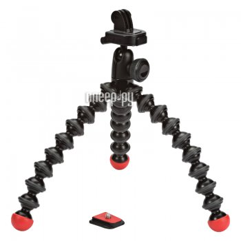 Штатив шарнирный Joby GorillaPod Action Tripod with Mount for GoPro Black/Red