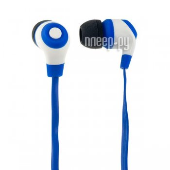 Наушники Perfeo Rubber PF-RUB-BLU/WHT Blue-White