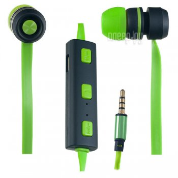 Наушники с микрофоном Perfeo Sound Strip PF-BTS-GRN/BLK Green-Black