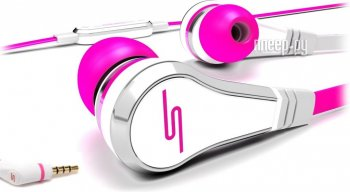 Наушники с микрофоном SMS Audio Street by 50 Wired Earbuds Pink SMS-EB-PNK