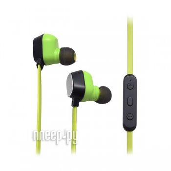 Наушники с микрофоном ROCK Mumo Bluetooth Earphone RAU0503 Black-Green
