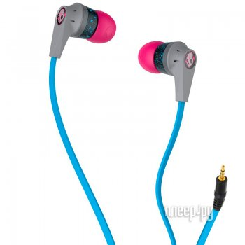 Наушники Skullcandy Ink D Grey-Pink-Cyan S2IKFZ-383
