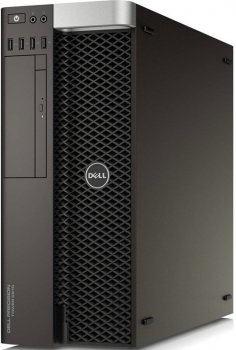 Системный блок Dell Precision T5810 MT Xeon E5-1620v3 (3.5)/16Gb/500Gb 7.2k/SSD256Gb/DVDRW/Windows 7 Professional 64 +W7Pro/GbitEth/клавиатура/мышь/че