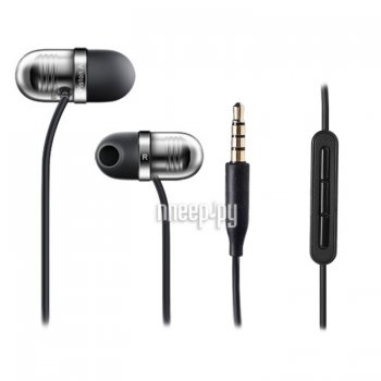 Наушники с микрофоном Xiaomi Piston Air Capsule Earphone Black-Silver