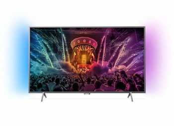 "Телевизор-LCD Philips 49"" 49PUS6401/60 серебристый/Ultra HD/1000Hz/DVB-T/DVB-T2/DVB-C/USB/WiFi/Smart (RUS)"