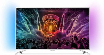 "Телевизор-LCD Philips 49"" 49PUS6501/60 черный/Ultra HD/1800 Hz/DVB-T/DVB-T2/DVB-C/DVB-S/DVB-S2/USB/WiFi/Smart (RUS)"