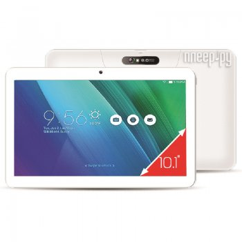 Планшетный компьютер Ginzzu GT-1010 White (Spreadtrum SC7731 1.3 GHz/1024Mb/8Gb/GPS/3G/Wi-Fi/Bluetooth/Cam/10.1/1024x600/Android)