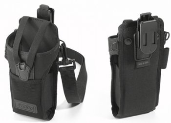 Zebra (Motorola) 11-69293-01R MC3000 fabric holster secures to a belt and includes shoulder strap