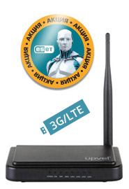 Маршрутизатор беспроводной Upvel UR-313N4G +ESET NOD32 3мес (UR-313N4G_CITILINK) 10/100BASE-TX