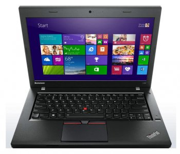 "Ноутбук Lenovo ThinkPad L450 Core i5 5200U/4Gb/500Gb/Intel HD Graphics 5500/14""/HD (1366x768)/Free DOS/black/WiFi/BT/Cam/4400mAh"