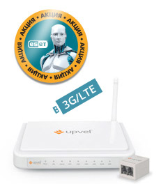 Маршрутизатор беспроводной Upvel UR-344AN4G +ESET NOD32 3мес (UR-344AN4G UNIVERSAL_CITILINK) 10/100BASE-TX/ADSL