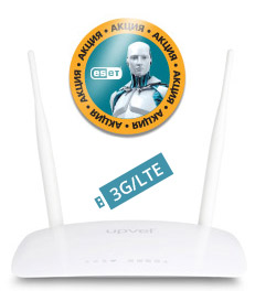 Маршрутизатор беспроводной Upvel UR-326N4G +ESET NOD32 3мес (UR-326N4G ARCTIC_CITILINK) 10/100BASE-TX