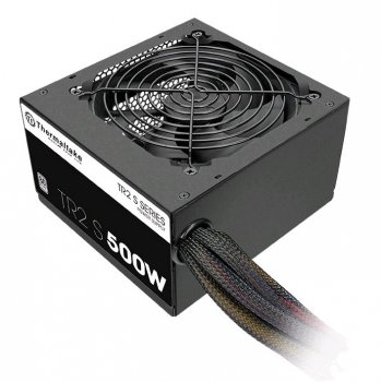 Блок питания Thermaltake ATX 500W TR2 S TRS-500AH2NK 80+ (24+4+4pin) APFC 120mm fan 5xSATA RTL