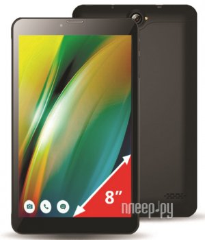 Планшетный компьютер Ginzzu GT-8010 Black (Spreadtrum SC9830 1.3 GHz/1024Mb/16Gb/LTE/GPS/Cam/8/1280x800/Android)