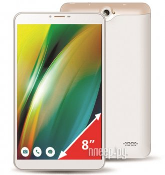 Планшетный компьютер Ginzzu GT-8010 White (Spreadtrum SC9830 1.3 GHz/1024Mb/16Gb/LTE/GPS/Cam/8/1280x800/Android)