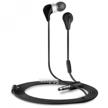 Наушники с микрофоном Canyon Ceramic Earphones Black CND-CEP1B