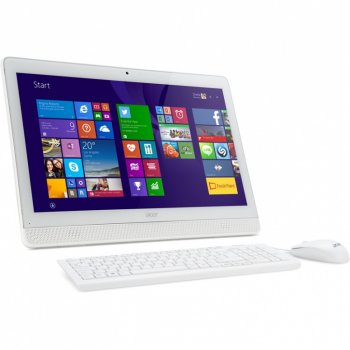 "Моноблок Acer Aspire Z1-612 19.5"" HD+ Cel J3060/4Gb/500Gb/HDG/DVDRW/Windows 10 Home Single Language/WiFi/BT/клавиатура/мышь/белый 1600x900"