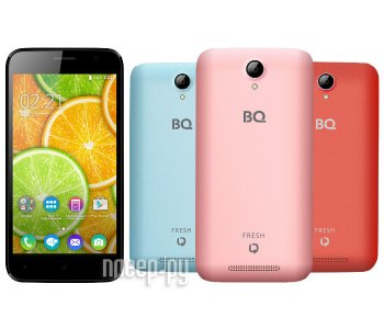 Смартфон BQ BQS-5030 Fresh Rose Gold / Sky Blue / Coral Red