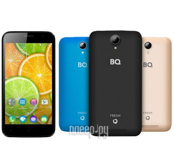 Смартфон BQ BQS-5030 Fresh Black / Blue / Gold