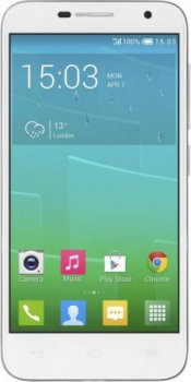 "Смартфон Alcatel Idol 2 Mini 6016D 8Gb белый/серый моноблок 3G 4.5"" 540x960 Android 4.3 8Mpix WiFi BT GPS GSM900/1800 GSM1900 TouchSc MP3 FM A-GPS mic"