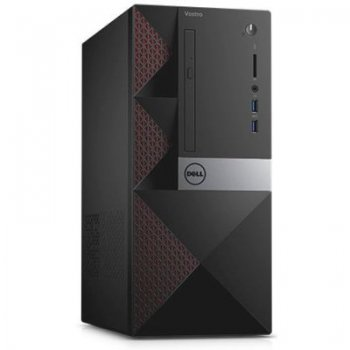 Системный блок Dell Vostro 3650 MT P G4400 (3.3)/4Gb/500Gb 7.2k/HDG 2Mb/DVDRW/CR/Windows 10 Home/GbitEth/клавиатура/мышь/черный