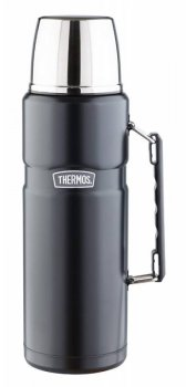 Термос Thermos SK2020 Matte Black King Stainless Steel Vacuum Fla (892195) 2л. черный