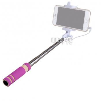 Монопод для селфи MONOPOD Cable Mini Pink 51136