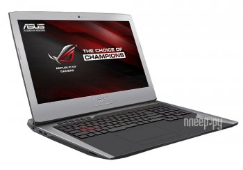 Ноутбук Asus ROG G752VT-GC074T 90NB09X1-M00830 (Intel Core i7-6700HQ 2.6 GHz/8192Mb/2000Gb/DVD-RW/nVidia GeForce GTX 970M 3072Mb/Wi-Fi/Cam/17.3/1920x1