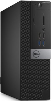 Системный блок Dell Optiplex 7040 SFF i5 6500 (3.2)/4Gb/500Gb 7.2k/HDG530/DVDRW/Windows 7 Professional 64 +W10Pro/GbitEth/клавиатура/мышь/черный/серый