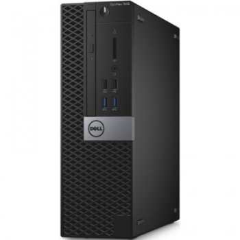 Системный блок Dell Optiplex 7040 SFF i5 6700 (3.2)/8Gb/500Gb 7.2k/HDG530/DVDRW/Windows 7 Professional 64 +W10Pro/GbitEth/клавиатура/мышь/черный/серый