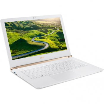 "Ноутбук Acer Aspire S5-371T-5409 Core i5 6200U/8Gb/SSD256Gb/Intel HD Graphics/13.3""/Touch/FHD (1920x1080)/Windows 10/white/WiFi/BT/Cam/3220mAh"