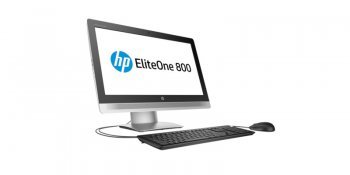 "Моноблок HP EliteOne 800 G2 23"" Full HD i3 6100 (2.9)/4Gb/500Gb 7.2k/HDG4600/DVDRW/Free DOS/GbitEth/WiFi/клавиатура/мышь/Cam/черный 1920x1080"