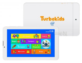 Планшетный компьютер TurboKids Turbo Kids 3G White (Intel Atom x3-C3230RK 1.2 GHz/1024Mb/8Gb/GPS/3G/Wi-Fi/Bluetooth/Cam/7.0/1024x600/Android)