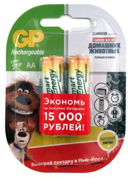 Аккумулятор GP Smart Energy 100AAHCSV AA NiMH 1000mAh (2шт.уп.)
