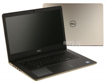 "Ноутбук Dell Vostro 5468 Core i3 7100U/4Gb/500Gb/Intel HD Graphics 620/14""/HD (1366x768)/Windows 10 64/gold/WiFi/BT/Cam 5468-2778"