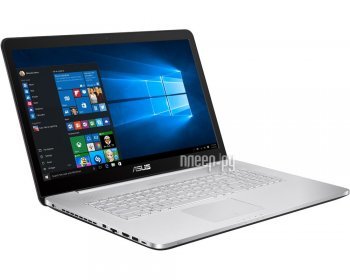 Ноутбук Asus N752VX-GC275T 90NB0AY1-M03330 (Intel Core i5-6300HQ 2.3 GHz/8192Mb/1000Gb + 128Gb SSD/DVD-RW/nVidia GeForce GTX 950M 2048Mb/Wi-Fi/Cam/17.